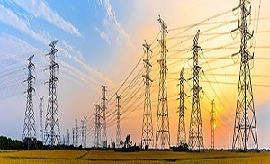 Photo of power distribution lines